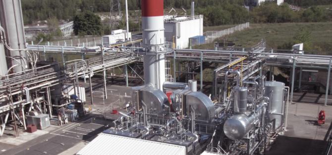 Chaufferie vapeur avec 2 chaudières industrielles de 25 T/h
