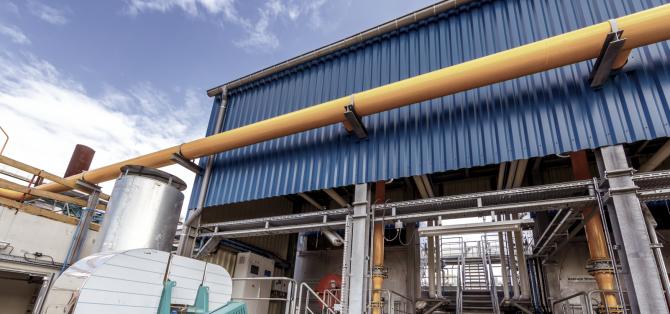 Chaufferie industrielle gaz naturel 3 x 30 T/h