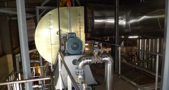 Ventilateur de tirage sur chaudière vapeur de récupération