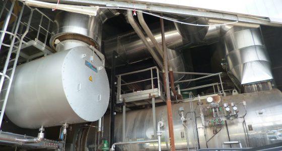 Chaudière vapeur de récupération après oxydateur de buées