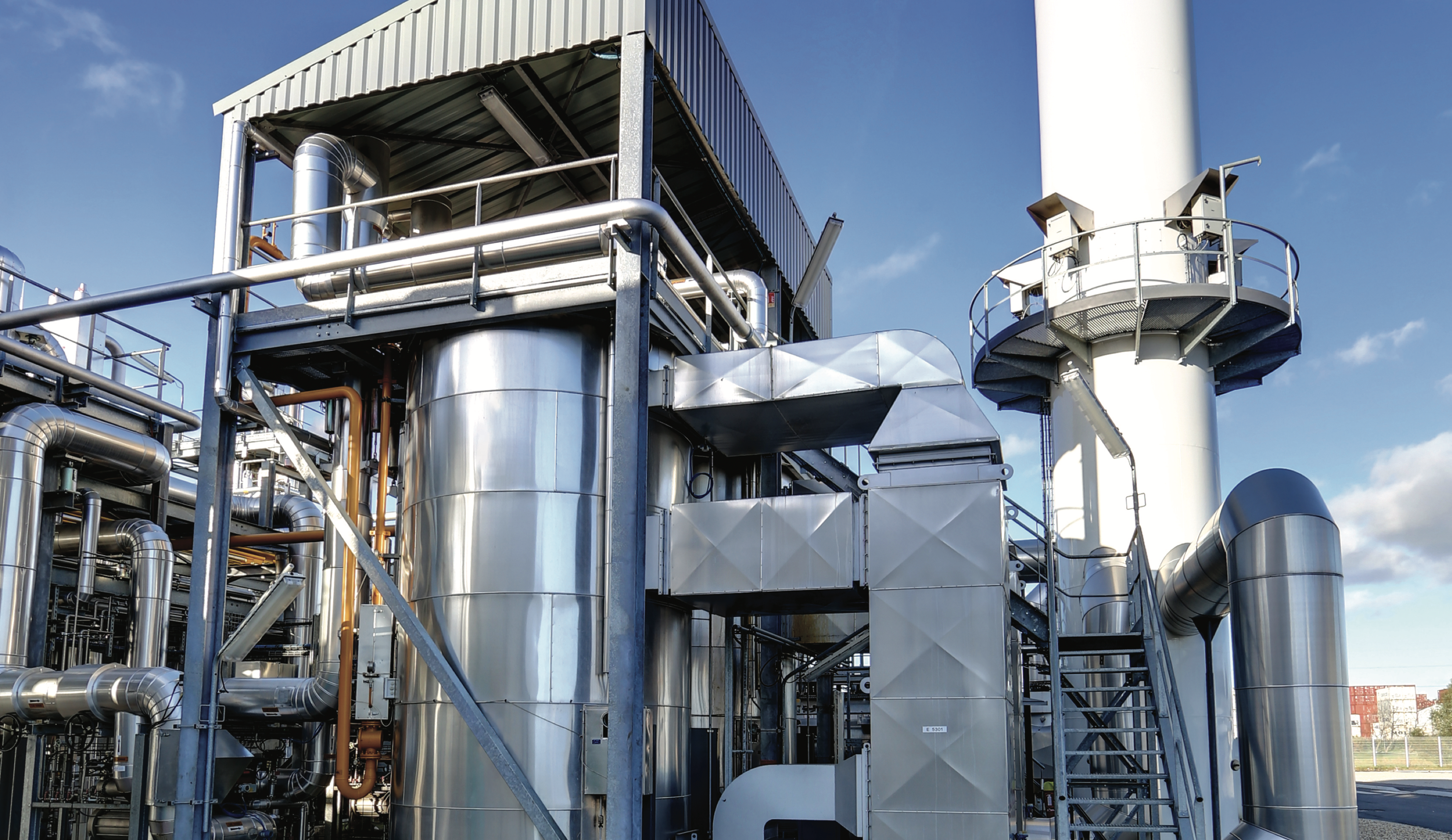 Chaudière fluide thermique dans centrale mutli-utilités