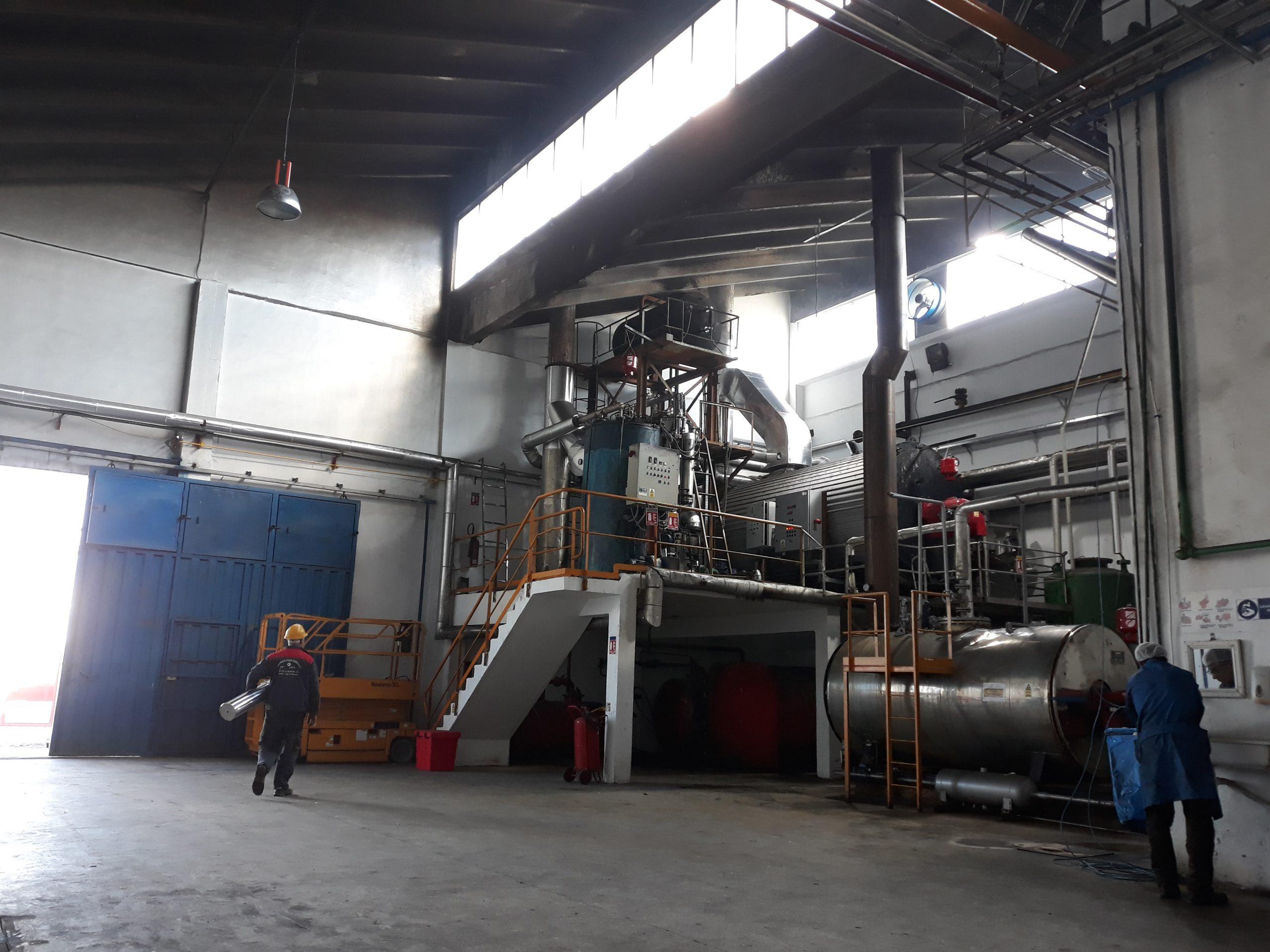 chaudière fluide thermique dans usine agroalimentaire