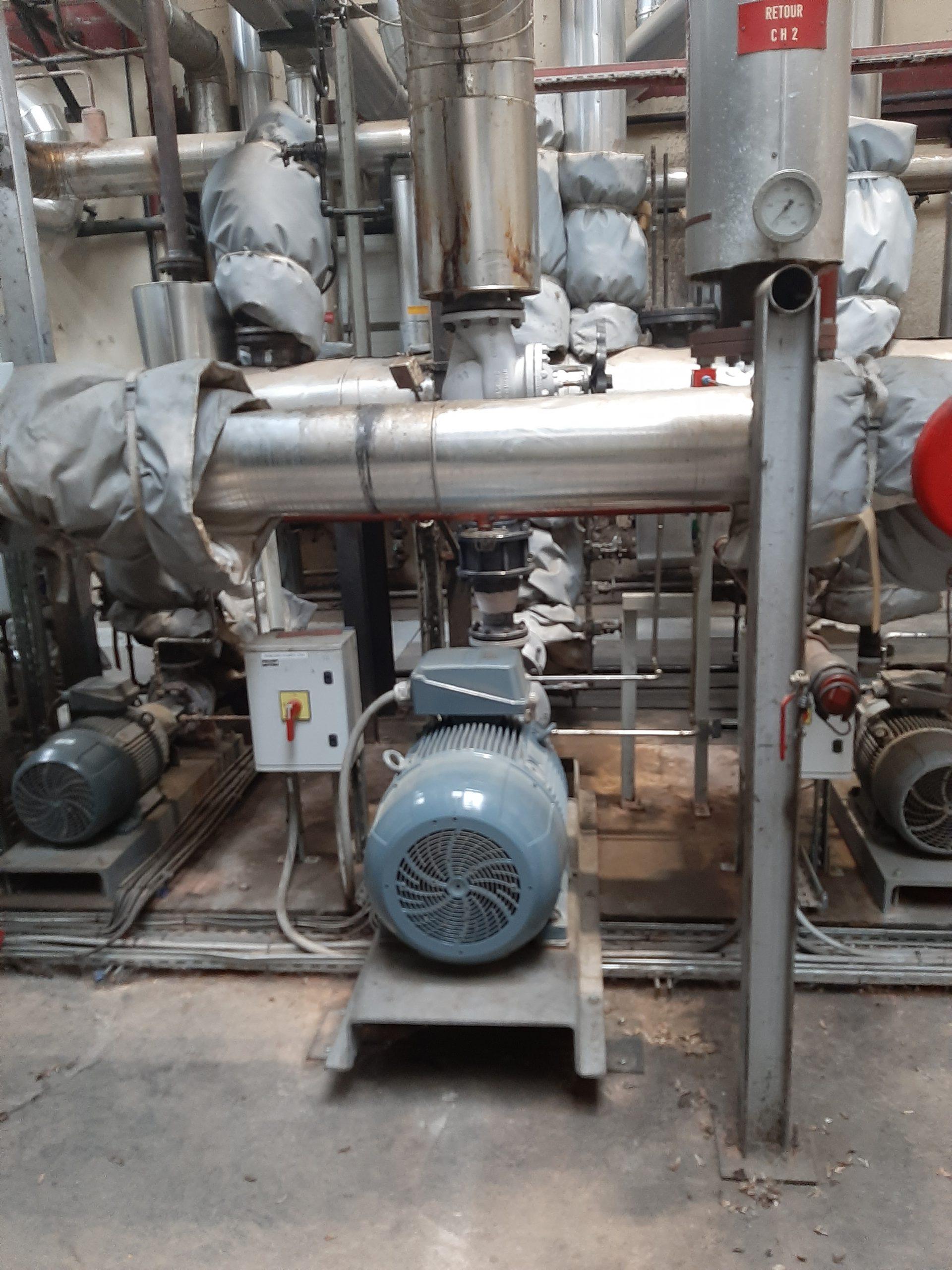 pompe distribution fluide thermique réseau
