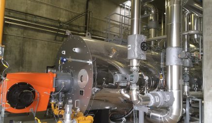 Chaudière eau surchauffée au gaz naturel installée