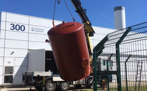 Manutention et installation vase expansion