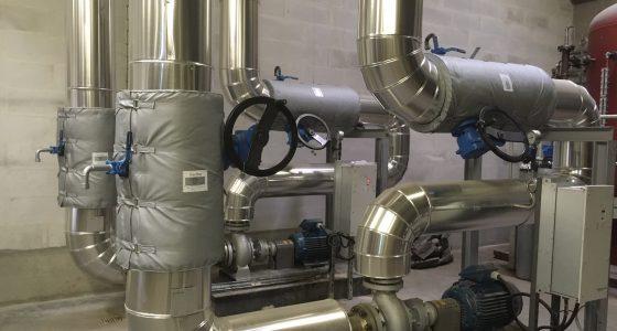 Panoplie de pompes eau surchauffée