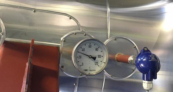 Thermomètre bâche alimentaire