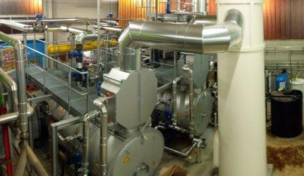 chaudière vapeur avec économiseur et dégazeur thermique