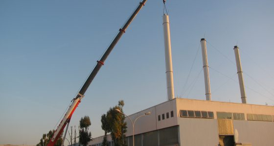 Manutention cheminée multiconduits